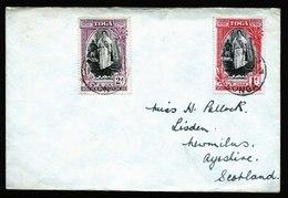 A5824) UK Tonga Cover To Scotland With 2 Stamps - Tonga (...-1970)