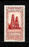 Francia Viñeta Turistica De La Bella Francia Catedral De Orleans - Commemorative Labels