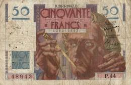 BILLET DE 50 FRANCS DE 1947 - 1871-1952 Circulated During XXth