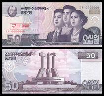 North Korea 50 Won 2008 UNC SPECIMEN - Korea, Noord