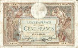 BILLET DE 100 FRANCS DE 1938 - 1871-1952 Anciens Francs Circulés Au XXème