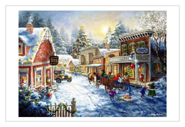 NEW Winter Landscape New Year Christmas Modern Rare New Postcard #117/8 - Andere