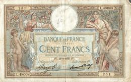 BILLET DE 100 FRANCS DE 1935 - 1871-1952 Anciens Francs Circulés Au XXème
