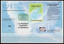 MACEDONIA / MACEDOINE Is42  20171120 AA International Reply Coupon Reponse Antwortschein IAS IRC Hologram Mint ** - Mazedonien