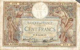 BILLET DE 100 FRANCS DE 1937 - 1871-1952 Antichi Franchi Circolanti Nel XX Secolo