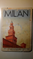 ENIT - Mappa, Cartina Geografica - Map - Milano - Dépliant, Brochure - Anni '30 - Dépliants Turistici