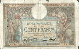 BILLET DE 100 FRANCS DE 1927 - 1871-1952 Anciens Francs Circulés Au XXème