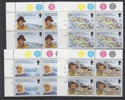 South Georgia 1996 Shackleton's Trek 4v Bl Of 4  (corners)  ** Mnh (41736F) - Zuid-Georgia