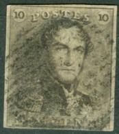 Belgique   1  Ob  TB Signé Alberto Diena - 1849 Epaulettes