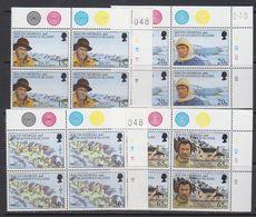 South Georgia 1996 Shackleton's Trek 4v Bl Of 4 (corner, 3v With Sheet Number) ** Mnh (41736G) - Zuid-Georgia