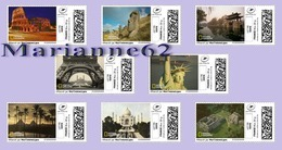 France 2019 TimbrEnLigne National Geographic - Italie Chili Chine Egypte Etats Unis Inde Mexique 8v - MNH Or Cancelled - France