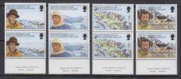 South Georgia 1996 Shackleton's Trek 4v Pair (WSP In Margin) ** Mnh (41738) - Zuid-Georgia