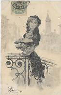 Thèmes, Illustrateurs,E.BOTTARO,Jeune Femme, Scan Recto-Verso - Bottaro