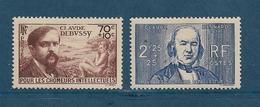 France Timbre De 1939 N°437 + 439  Neuf * Cote 21€ - France