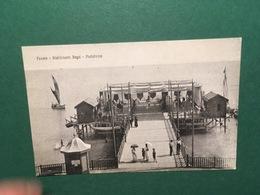 Cartolina Pesaro Stabilimento Bagni Piattaforma - 1910ca. - Pesaro