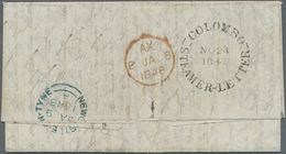 Ceylon / Sri Lanka: 1847, Entire From COLOMBO Addressed To Newcastle On Tyne, Rate 1/10 D With Super - Sri Lanka (Ceylon) (1948-...)