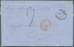 Ceylon / Sri Lanka: 1863. Stampless Envelope Written From 'Point De Galle A Caylon' Dated '29th Mai - Sri Lanka (Ceylon) (1948-...)