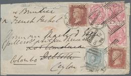 Ceylon / Sri Lanka: 1876. Envelope (minor Faults) Addressed To Deltota, Ceylon Bearing Great Britain - Sri Lanka (Ceylon) (1948-...)