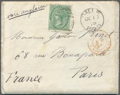 "Ceylon / Sri Lanka: 1878. Envelope Written On Board The French Steamer ""Sarthe"" Near The Maldives '6 - Sri Lanka (Ceylon) (1948-...)"