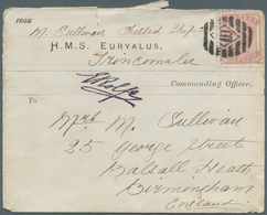 Ceylon / Sri Lanka: 1883. Seaman's Envelope (roughly Opened) Endorsed By 'M. Sullivan, Shilled Shop' - Sri Lanka (Ceylon) (1948-...)