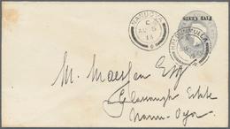 "Ceylon / Sri Lanka: 1885-89 Postal Stationery Envelope ""FIVE CENTS"" On 4c. With Overprint (16mm) INV - Sri Lanka (Ceylon) (1948-...)"