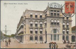 Ceylon / Sri Lanka: 1930. Picture Post Card Of 'Grand Oriental Hotel, Colombo' Addressed To Saigon B - Sri Lanka (Ceylon) (1948-...)