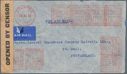 Ceylon / Sri Lanka: 1939. Air Mail Envelope Addressed To St. Gallen, Switzerland Cancelled By 'Ceylo - Sri Lanka (Ceylon) (1948-...)