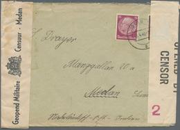Ceylon / Sri Lanka: 1940. Envelope Addressed To Medan, Sumatra Bearing Germany Yvert 447, 10pf Maroo - Sri Lanka (Ceylon) (1948-...)