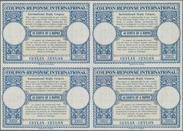 Ceylon / Sri Lanka: 1952. International Reply Coupon 45 Cents Of A Rupee (London Type) In An Unused - Sri Lanka (Ceylon) (1948-...)