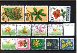 Thématique Fleurs, Lot De 12 Timbres, Lot N° 2 - Autres