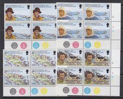 South Georgia 1996 Shackleton's Trek 4v Bl Of 4  (corners) ** Mnh (41738B) - Zuid-Georgia