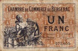 1237-2019     CHAMBRE DE COMMERCE DE BERGERAC 1 FRANC - Chambre De Commerce