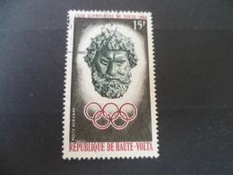 HAUTE  VOLTA  N° 14  POSTE AERIENNE   OBLITERE  JEUX OLYMPIQUES TETE  DIEU GREC - Haute-Volta (1958-1984)