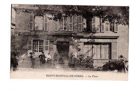 CPA 19 - Saint Martial De Gimel - La Place , Belle Animation - Autres Communes