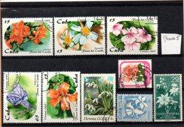 Thématique Fleurs, Lot De 9 Timbres, Lot N° 5 - Autres