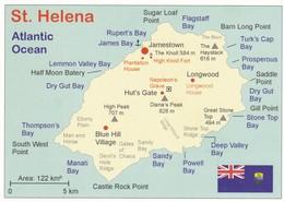 CPM - Carte Géographique - Sainte Helene - Maps