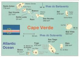 CPM - Carte Géographique - Cap Vert - Maps