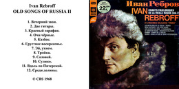 Superlimited Edition CD Ivan Rebroff. OLD SONGS OF RUSSIA II - Country & Folk