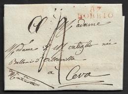 1811 - LAC - 87 BOBBIO 28mm X 9mm Pour CEVA - Postmark Collection (Covers)