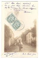 Supposé LADAPEYRE (23) - CARTE PHOTO - Vue D'une Rue - ANE  - Obliteration Ladapeyre - France