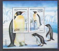 Chile 1992 Antarctica / Emperor Penguins M/s  ** Mnh (41741) - Chili