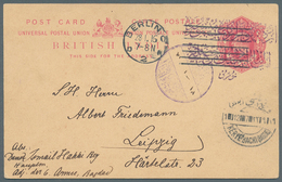 Irak: INDIEN-USED-ABROAD, IRAQ: 1916. British India Postal Stationery Card One Anna Carmine Written - Irak