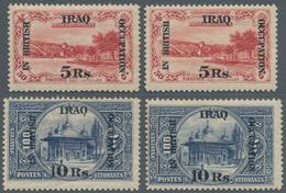 Irak: BRITISH OCCUPATION: 1918, Turkish Stamps 5r. On 50pi. Rose And 10r. On 100pi. Indigo Optd. 'IN - Irak