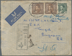 Irak: 1940 R.A.F. Habbanyia: Censored Airmail Cover From Habbanyia To R.A.F. Tengah, Singapore Frank - Irak