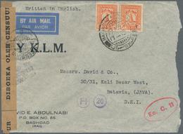 Irak: 1941. Air Mail Envelope (roughly Opened) Addressed To Batavia, Netherlands Indies Bearing Iraq - Irak