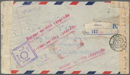 Irak: 1944. Registered Air Mail Envelope Addressed To Bienne, Switzerland Bearing Iraq Yvert 114, 20 - Irak