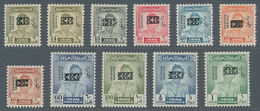 """Irak - Dienstmarken: 1973 """"Faisal"""" Official Stamps (1948-51 Issue) With Portrait Obliterated By """"lea - Irak"""