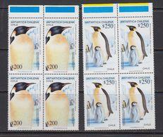 Chile 1992 Antarctica / Penguins 2v Bl Of 4  ** Mnh (41741B) - Zonder Classificatie