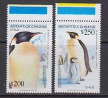 Chile 1992 Antarctica / Penguins 2v (+margin) ** Mnh (41741D) - Postzegels