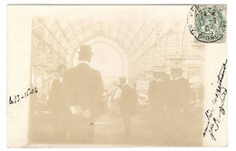 Supposé LADAPEYRE (23) - CARTE PHOTO - Vue D'une Halle (marché?) - France